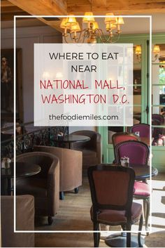 Best restaurants within walking distance from National Mall in Washington D.C. Click on pin to find the best places for a good lunch while you are sightseeing in the capital!