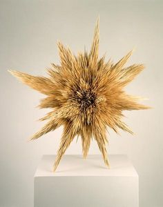 Tom Friedman Untitled, 1995 Toothpicks 26 x 30 x 23 inches A starburst construction made out of 30,000 toothpicks