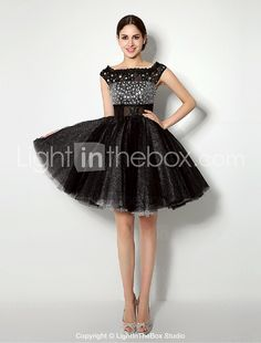 Cocktail Party Formal Evening Dress Ball Gown Bateau Short Mini Tulle Dress  2015 – 15d85b29d3