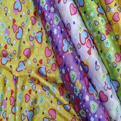 Hearts Valentines Day Decoration Printed Satin Fabric JOB LOT WHOLESALE CHEAP