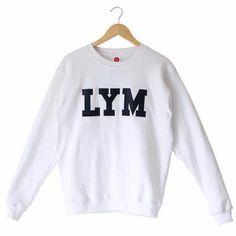 629c627702063 White LYM Crew Neck Sweatshirt Love Your Melon