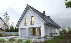 Dostępny 1 Bauhaus, Small Modern Home, Small House Design, Home Design Plans, Facade House, Maine House, Home Renovation, Planer, House Plans