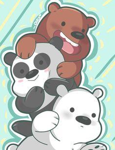 We Bare Bears: Grizz, Panda, Ice bear Bear Wallpaper, Disney Wallpaper, Games Tattoo, We Bare Bears Wallpapers, We Bear, Cute Cartoon Wallpapers, Cute Panda, Cute Bears, Kawaii Art