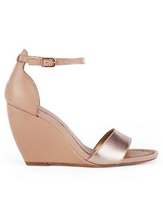 Rose gold wedges