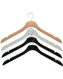 NAHANCO SlimLine Wooden Hangers - Wooden Clothes Hangers - Clothes Hangers