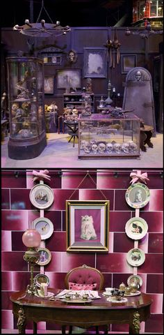 Other displays in the new Dark Arts area of the WB Harry Potter Studio Tour (HPP Book 1 Site #27) include Borgin & Burkes and Dolores Umbridge's office. #HarryPotterTourLondon #StudioTourLondon
