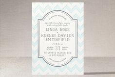 Modern Belle Letterpress Wedding Invitations by 2birdstone at minted.com  but with a stylized double helix patterning instead of the chevron