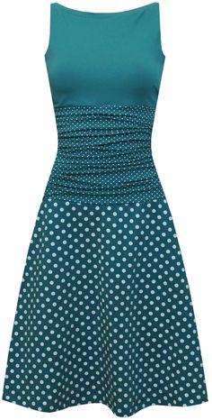 dots allover Kleid Ivy – dots allover Kleid Ivy – ungiko – kleider zum v… dots allover Dress Ivy – dots allover Dress Ivy – ungiko [. Tee Dress, Belted Dress, Modelos Fashion, Combo Dress, Looks Chic, Elegant Dresses, Dress Patterns, Plus Size Dresses, Designer Dresses