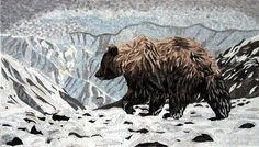 Mosaic Marble - Snow Mosaic Landscape | Mozaico