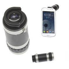 Zehui 8X Zoom Telescope Camera Lens W/ Back case for Samsung Galaxy S3 SIII GT i9300 by Zehui. $10.55. >>Specifications:       Instantly converts your mobile phone into a telescope     8x optical zoom, 18mm lens     Great for taking pictures from a distance.     New design to run of rays effectively avoiding the contortion of image.     Take super wide angle pictures with large luminous flux.     Higher visual acuteness.     Good for color reduction producing hig...