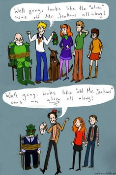 The only difference between Scooby-doo and Doctor Who