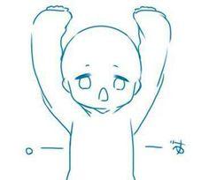 Anime Drawings Sketches, Kawaii Drawings, Cute Drawings, Drawing Reference Poses, Art Reference, Chibi Body, Chibi Sketch, Chibi Drawing, Drawing Expressions