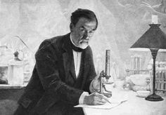"""A painting of Louis Pasteur in his laboratory. The French chemist and microbiologist once said, """"Fortune favors the prepared mind."""" A new report on pandemics bears a similar message. Institut Pasteur, Louis Pasteur, Today In History, Vintage Medical, The Orator, Chemist, Inventions, French, Bears"""