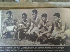 Delantera Deportes La Serena 1962: Jose Torres, Haroldo de Barros, Carlos Verdejo, Pedro perez y Juan Carvajal