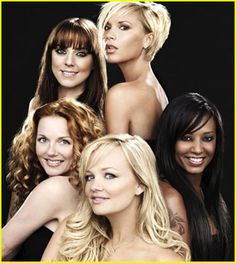 The Spice Girls in a promotional photo for the merchandise on their highly anticipated reunion tour.