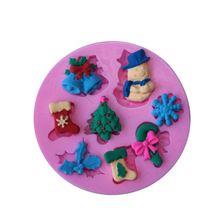 Nuovo arrivo!  Natale stampi in silicone, torta del fondente che decora gli attrezzi, sapone del silicone muffa, muffa della torta del silicone, bakeware(China (Mainland))