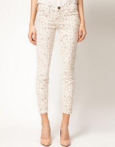Elliot/Current simplified floral skinny jean