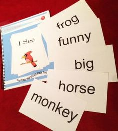 "Fast Flash method for teaching read to kiddos with Down syndrome-Use 5"" x 8"" Index Cards"