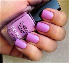 WANT IT :: Golden Rose Care + Strong - 182 :: Love me some pink lilacs. | #nailpolish #lilac #pink