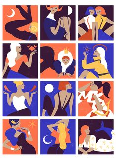 virginie-morgand:  Which zodiac sign in which look for 2015?Zodiac Fashion - illustrations for MilkX Magazine (Hong Kong)