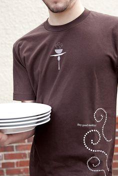 restaurant uniform branding front