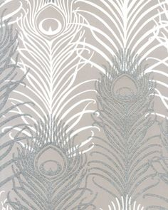 Buy Matthew Williamson Peacock from the extensive range of Matthew Williamson at Select Wallpaper. Peacock Wallpaper, Metallic Wallpaper, Home Wallpaper, Curtain Patterns, Textile Patterns, Print Patterns, Cream Decor, Design Exterior, Luxury Bedrooms