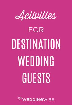 Check out some of our favorite ideas to bring your guests together and kick off your #destination #wedding weekend!