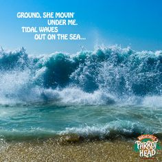 """Ground, she movin' under me. Tidal waves out on the sea."" - Jimmy Buffett"
