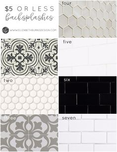 Elizabeth Burns Design   Budget-friendly backsplash options that are affordable under $5 a square foot