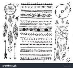 bohemian grpahics ornaments