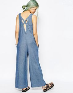 ASOS+Denim+Premium+Jumpsuit+With+Low+Back