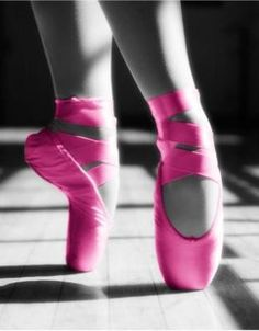 hot pink pointe shoes!