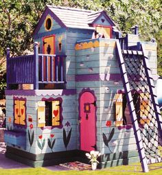 With three balconies, a slide, Dutch accents and a floral motif, this mini-chalet looks enticing enough for a grown-up. However, this ultimate playhouse is better suited for the small ones.SHOP NOW: Le Petit Chalet