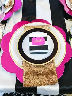 Kate Spade inspired party decor