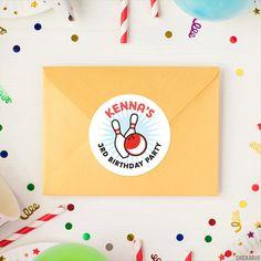 Bowling Birthday Stickers – Chickabug