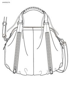 Perfect Handbag  Purse Design Illustration Sketch Drawing  Hand