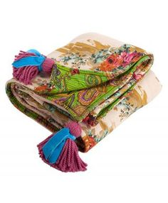 Consuela--$245.  OUCH!! Need for my bedroom! Hand-Knotted Throw, Tan Rose (7015)