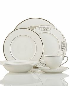 Mikasa Dinnerware, Cameo Platinum Collection at Macy's