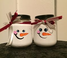 Snowman baby food jars
