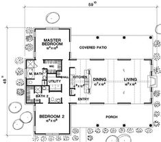 The Fredericksburg 5384 - 2 Bedrooms and 2.5 Baths | The House Designers