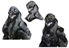 Alien Head Concepts from Mass Effect: Andromeda