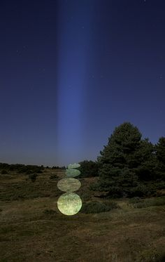 """Spanish artist Javier Riera creates art by projecting light on the trees. Riera says about his works: """"My intervention is ephemeral, it does not leave a trace in nature. It comes and leaves."""" www.javierriera.es"""