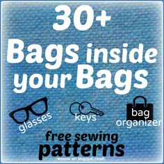 30+ Bags for inside your Bags - free sewing patterns