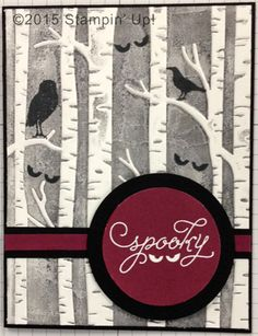 Stampin' Up! Cards - Among the Branches stamp set and Woodland Embossing Folder