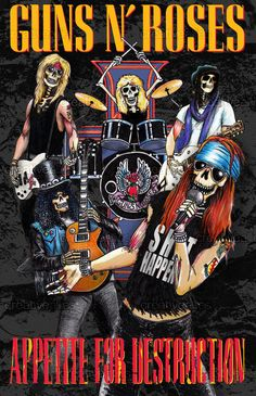 Guns N' Roses Print by gcluskey on CreativeA Heavy Metal Rock, Heavy Metal Music, Heavy Metal Bands, Guns N Roses, Arte Pink Floyd, Iron Maiden, The Beatles, Rock Band Posters, Band Wallpapers