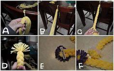 Rapunzel yarn braid