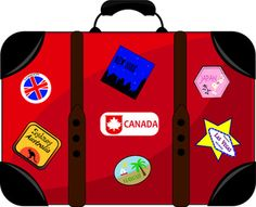 clip_art_illustration_of_red_and_black_luggage_with_a_variety_of_travel_stickers_on_it_0515-1011-1111-5731_SMU.jpg (300×244)