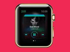 Music Player Apple Watch UI by WORAWALUNS
