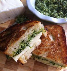 Halloumi-Pesto Grilled Sandwich