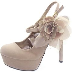 Save 10% + Free Shipping Offer * | Coupon Code: Pinterest10 Material: Man Made Material. 4.75 inches, 1.25 inch platform True to size, Round toe Platform Pumps Product Code: Miriam-42 Nude(Beige) Easy Slip on/off. Featuring smooth velvet material all around the shoes, even with the back stiletto heel. Padded suede out-sole for non-skid purposes. FEATURING floral bow on the side~! Finished with adjus	le slingback ankle strap. Women's Qupid Miriam-42 Nude Suede Mary Jane Platform Pumps